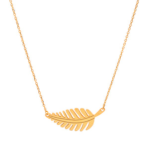 Horizontal Leaf Necklace