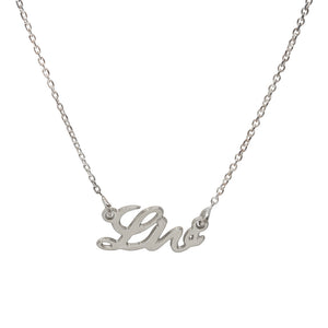 Liv Name Necklace