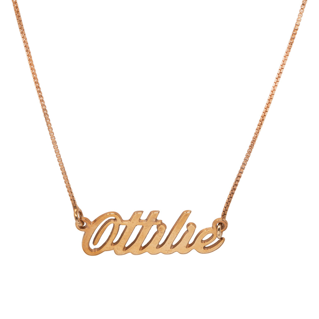 Ottilie Name Necklace
