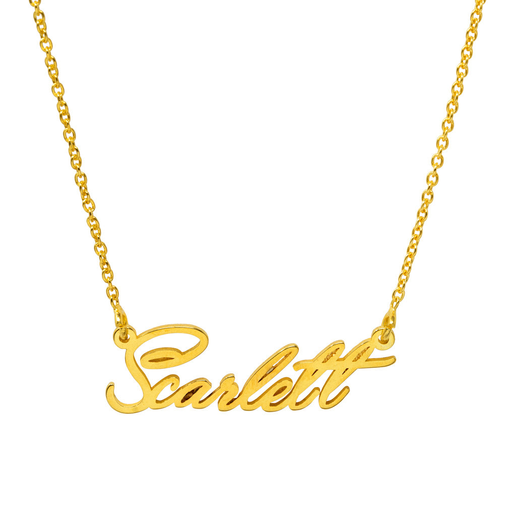 Scarlett Signature Name Necklace