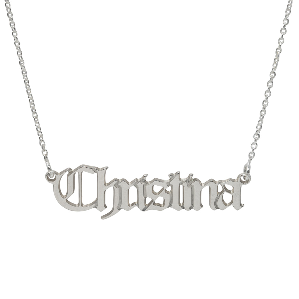 Christina Gothic Name Necklace