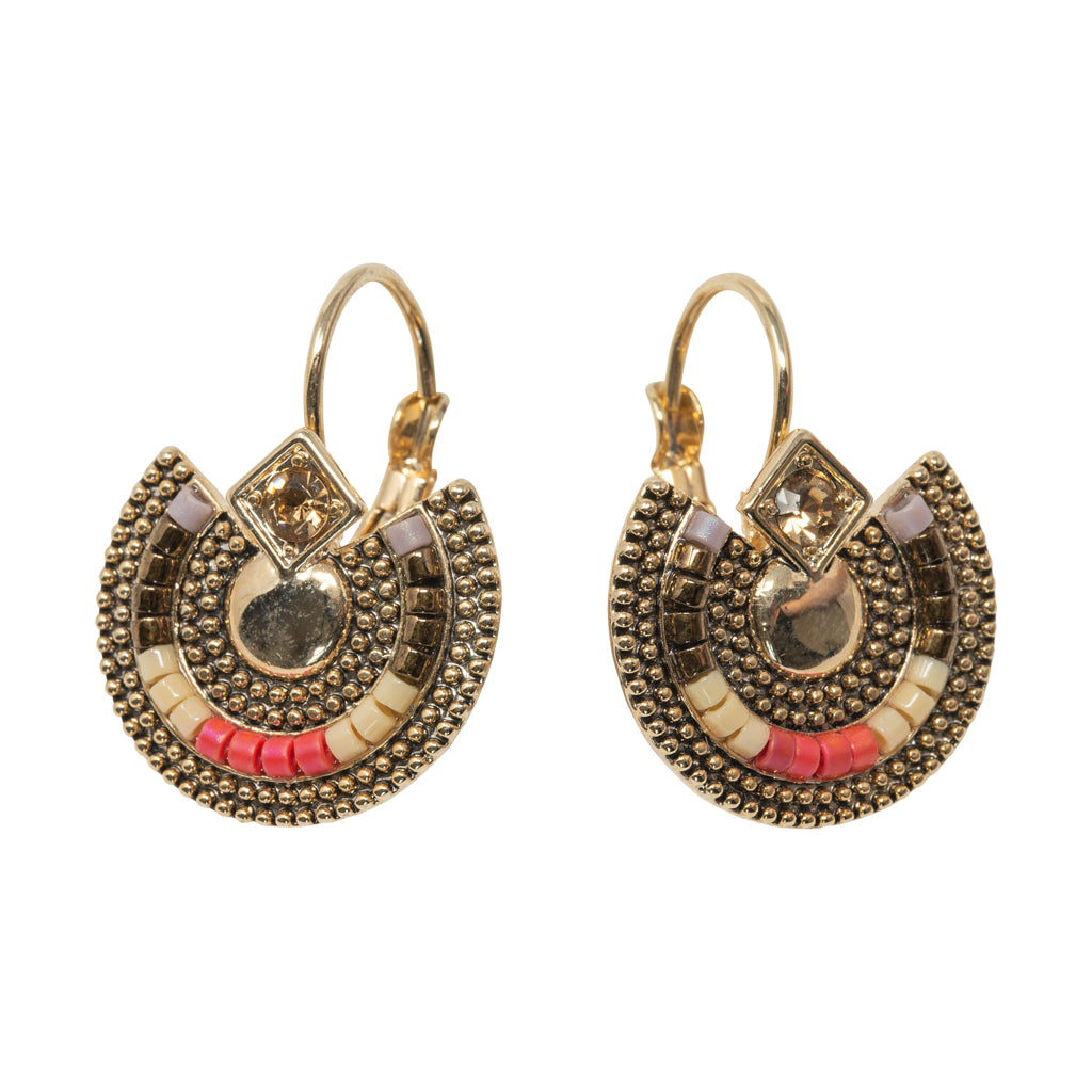 Athena Coral Statement Earrings