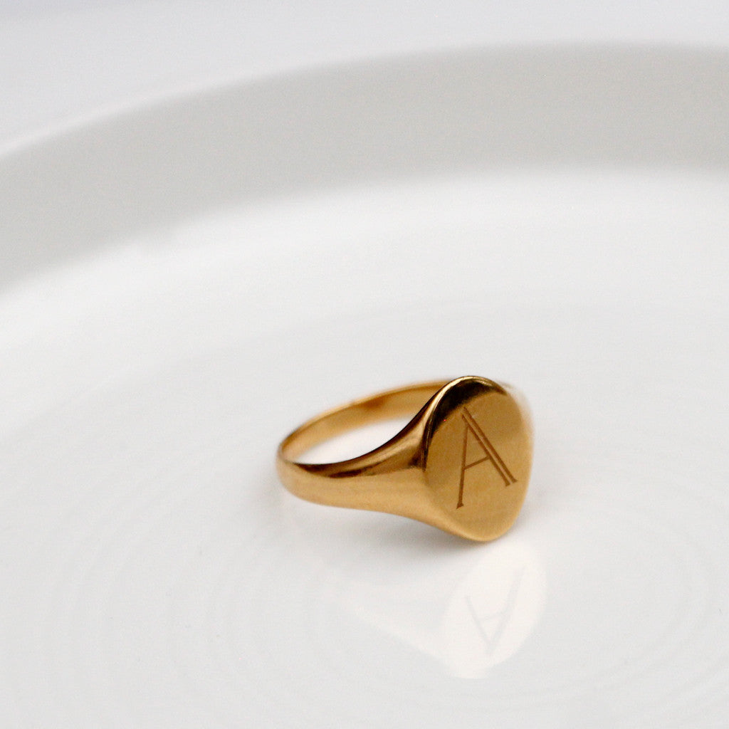 Signet Initial Ring