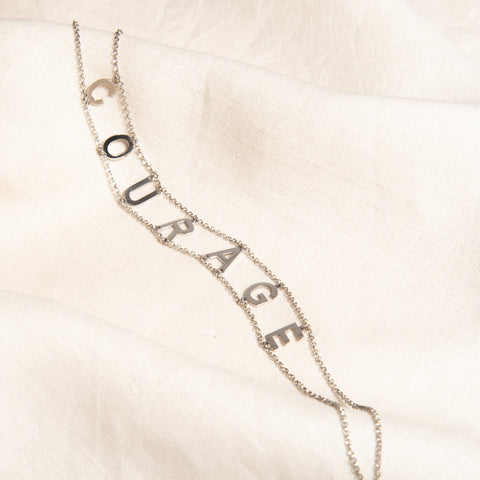 Personalised 'Courage' Choker Necklace