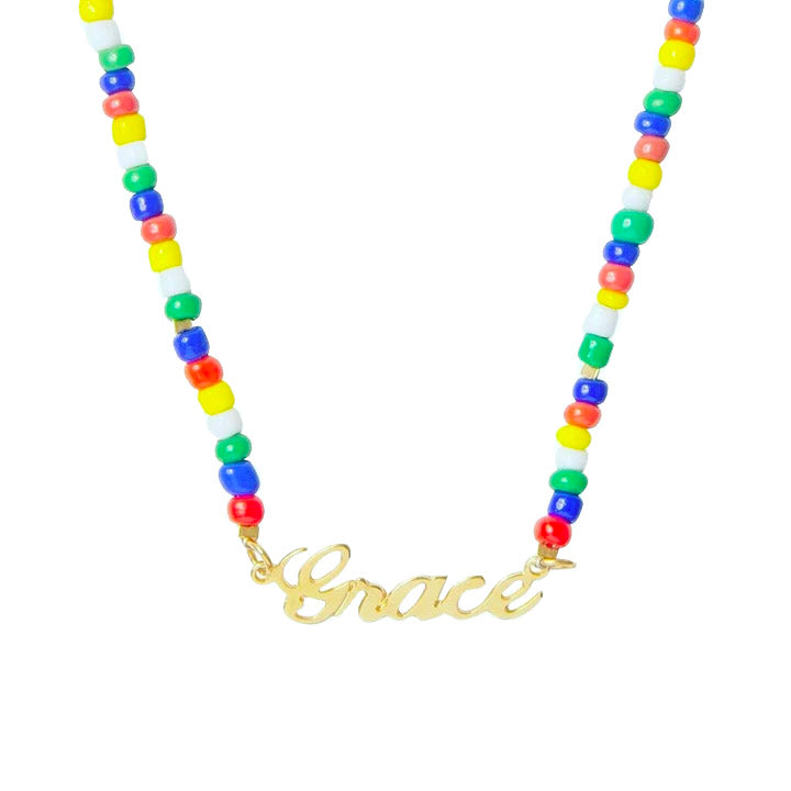 Calypso Beaded Name Necklace