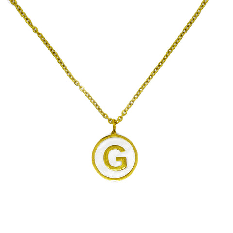 G Initial Pearl Necklace