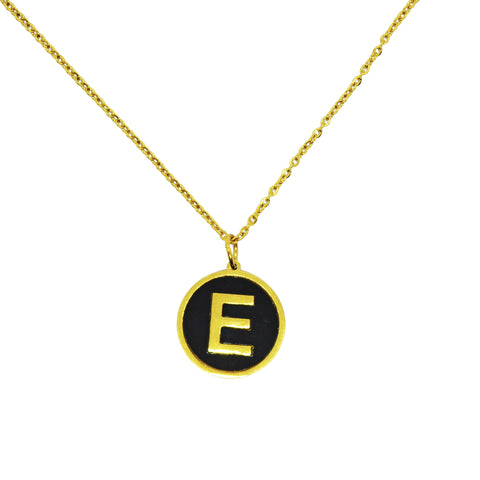 E Alphabet Necklace