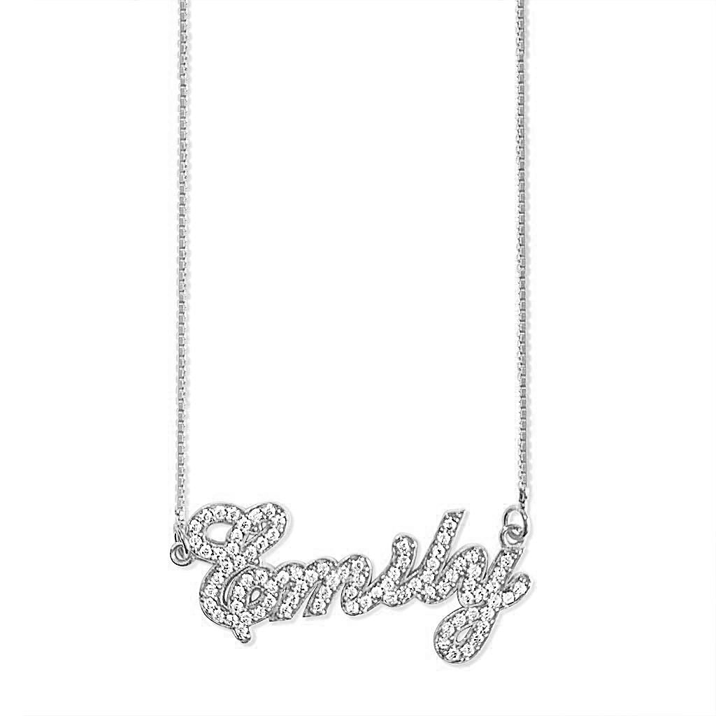 Crystal Name Necklace