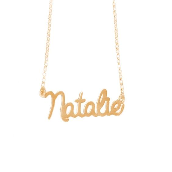 English Handwriting Necklace