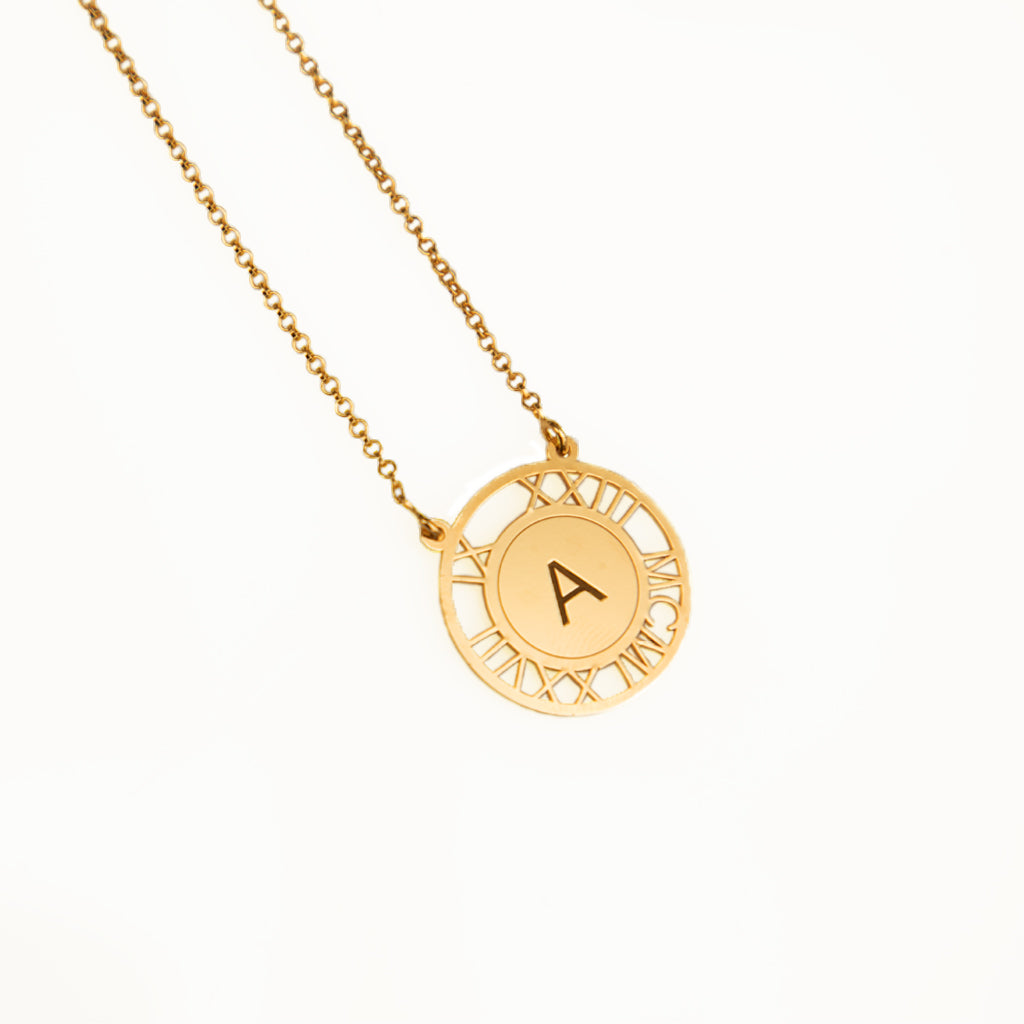 Special Date Letter Initial Necklace