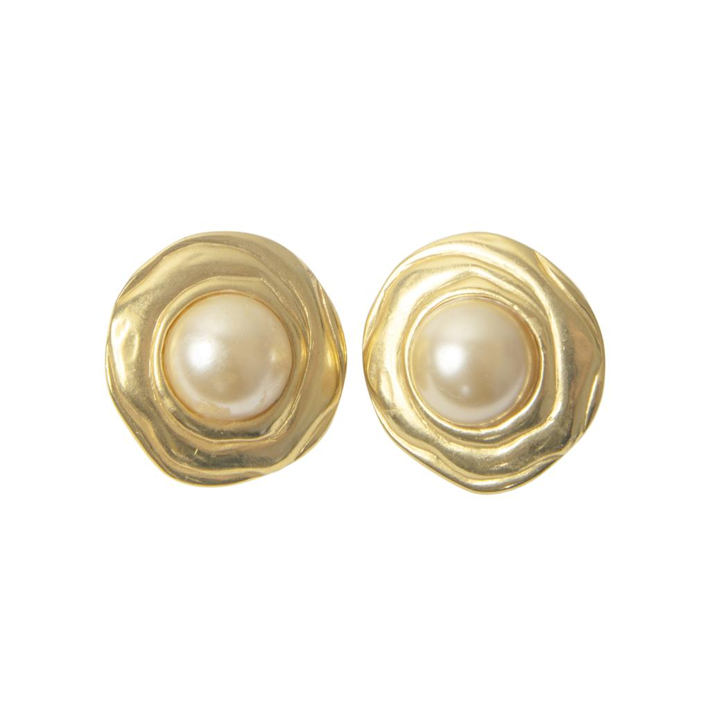 Clara Pearl Roped Stud Earrings