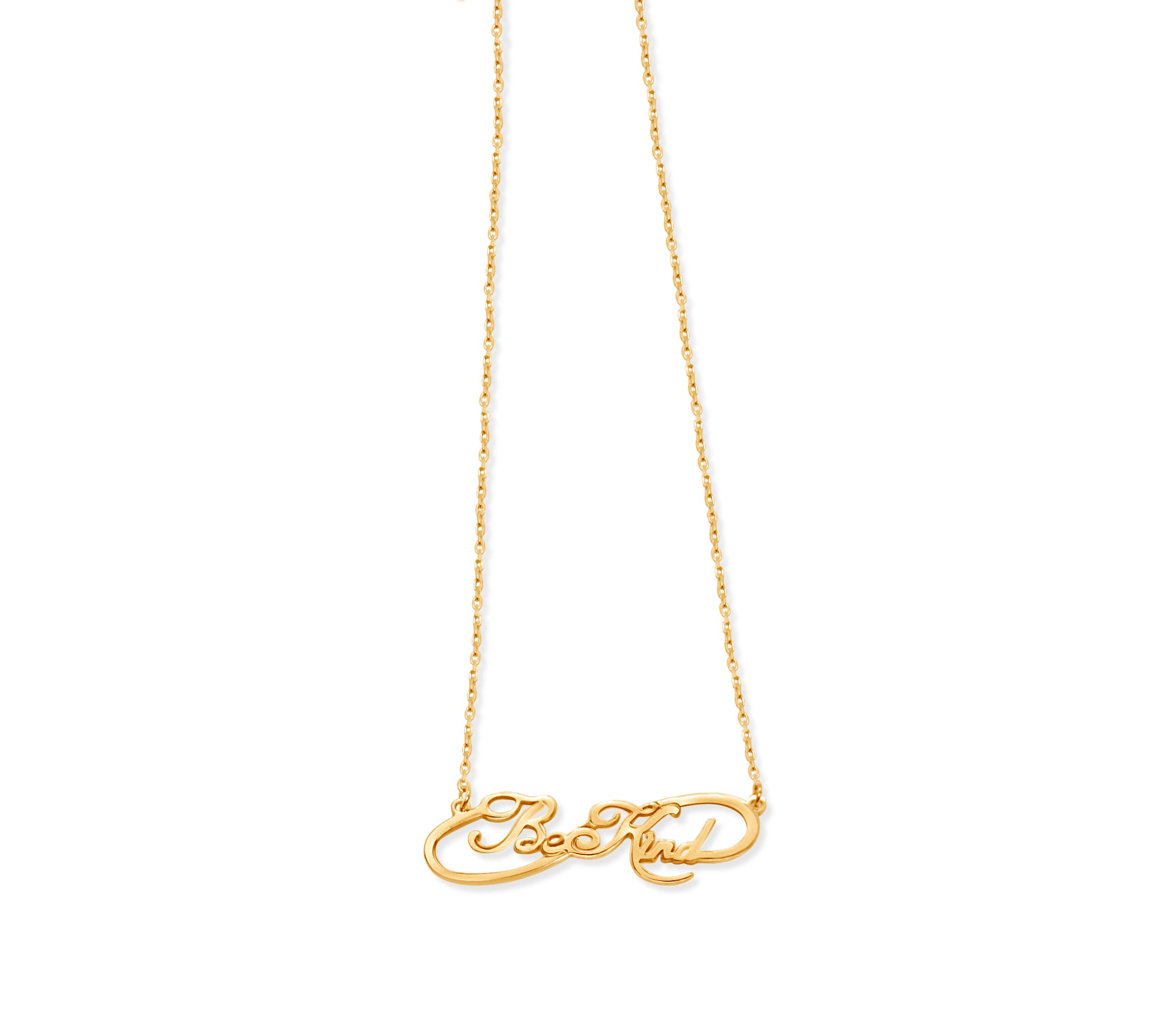Be Kind Infinity Name Necklace