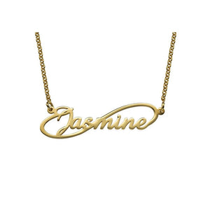 14kt Solid Gold Infinity Name Necklace