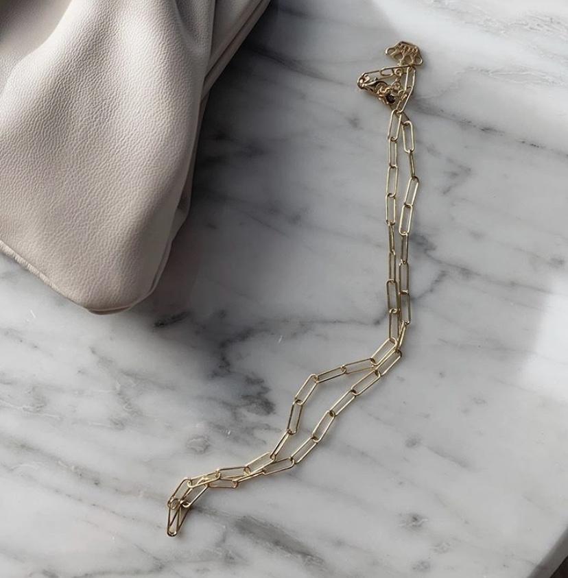Elia Rectangle Chain Necklace