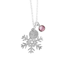 Personalised Snowflake Charm Necklace