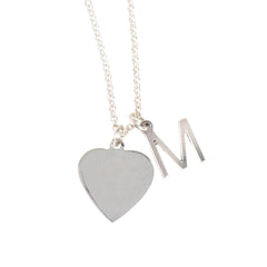 Heart Initial Charm Necklace