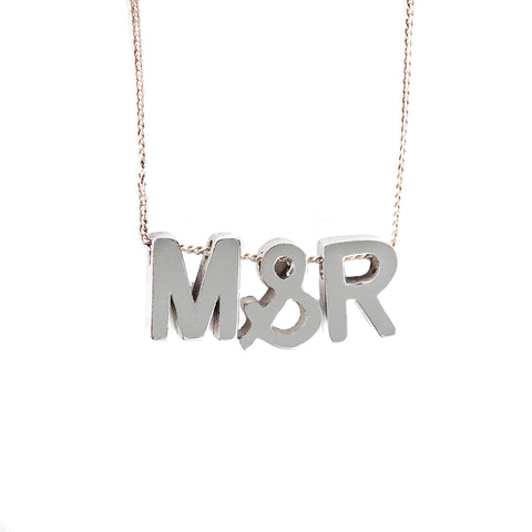 Chunky Letters Personalised Necklace