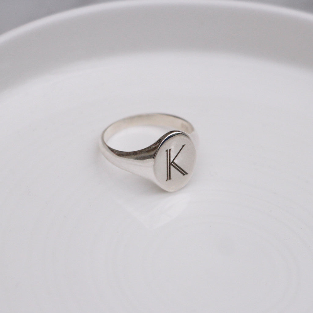 Signet Personalised Initial Ring