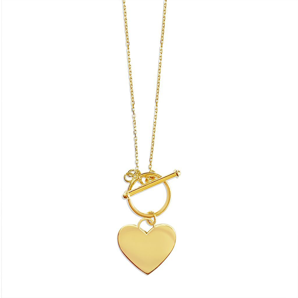 Ophelia Heart T-Bar Necklace