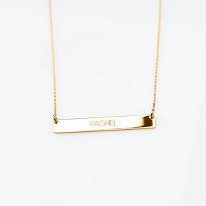 Rachel Plate Name Necklace
