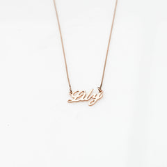 Lily Name Necklace
