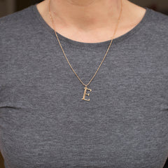 E Initial Necklace