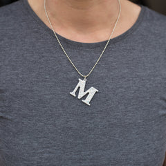 Silver Crystal Initial Necklace
