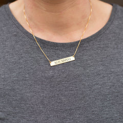Personalised Bar Name Necklace