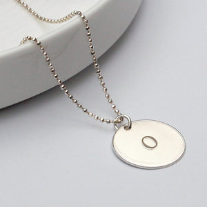 Initial O Disc Necklace