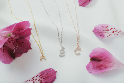 Aldora Initial Crystal Necklace
