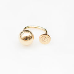 Small Disc Dot Ring