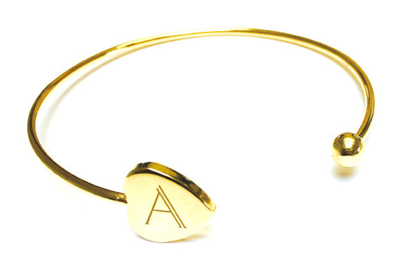 Personalised Initial Heart Bangle