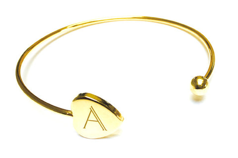 Personalised Initial Heart Cuff