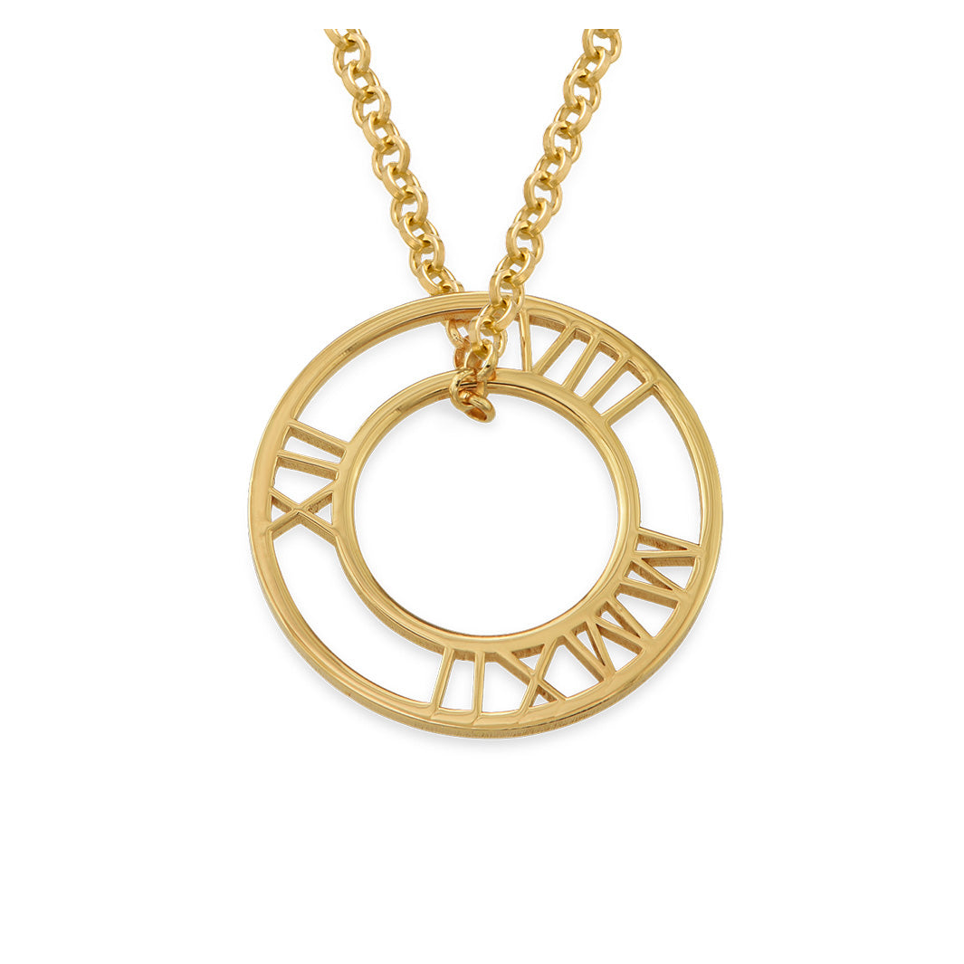 Special Date Circle Necklace