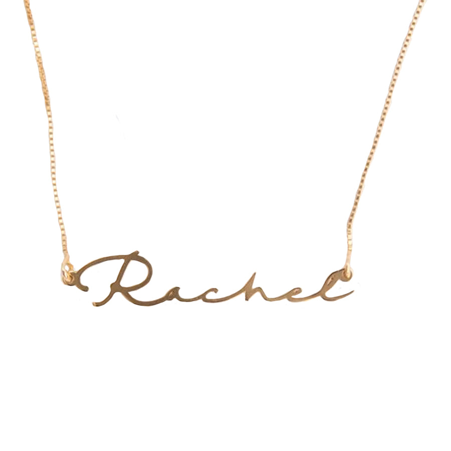 Signature Handwriting Name Necklace