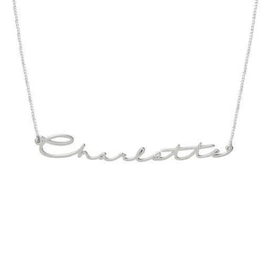 Handwriting Signature Name Necklaces