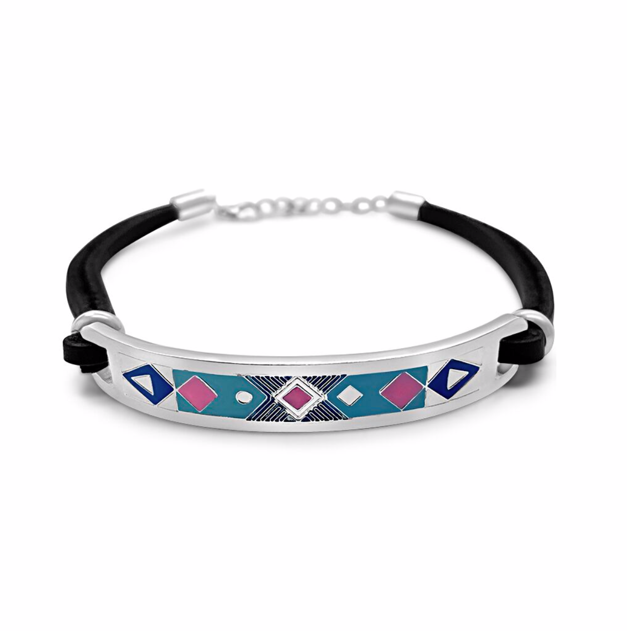 Aztec Blue and Pink Anklet