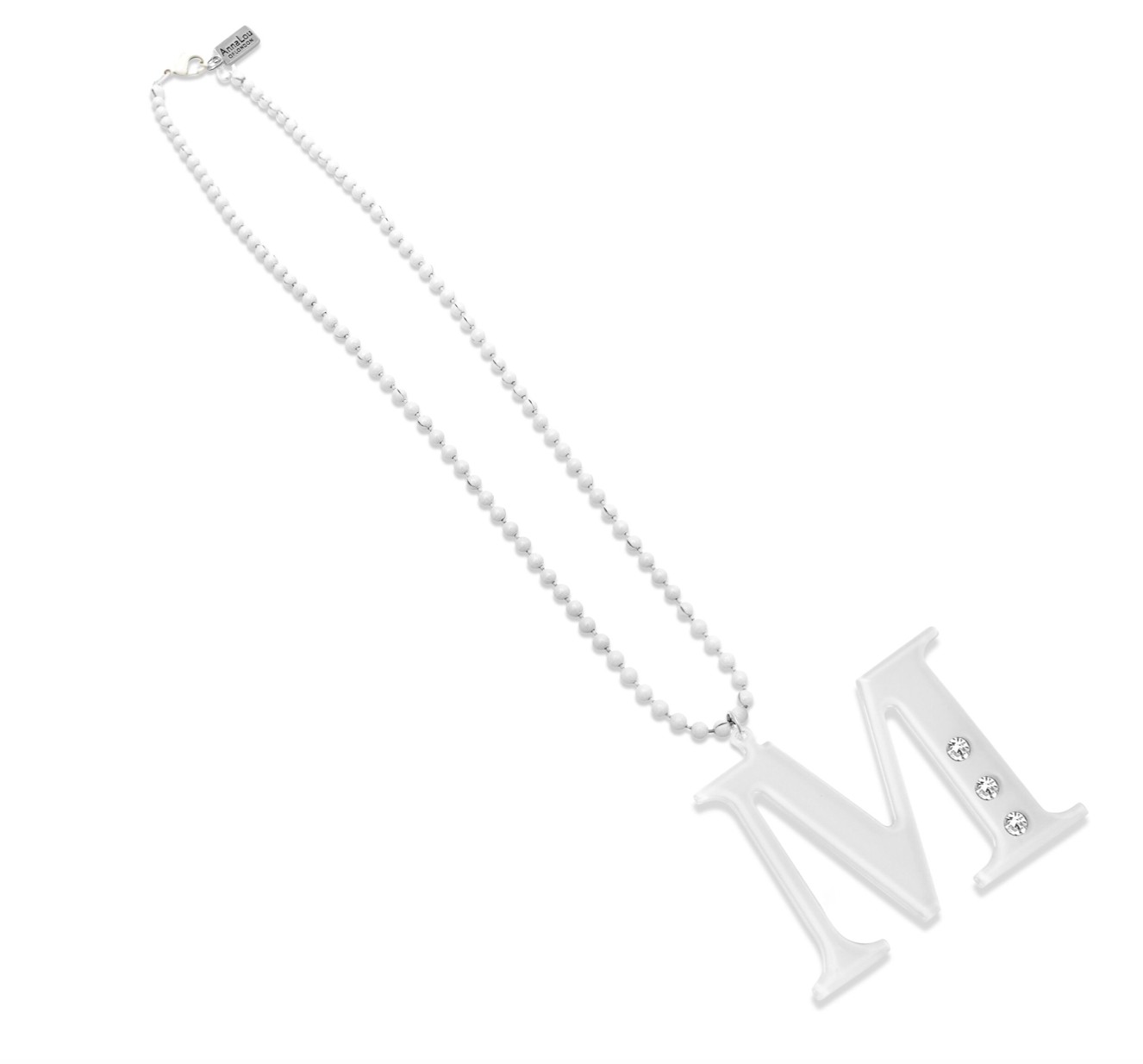 M Lucite Crystal Necklace