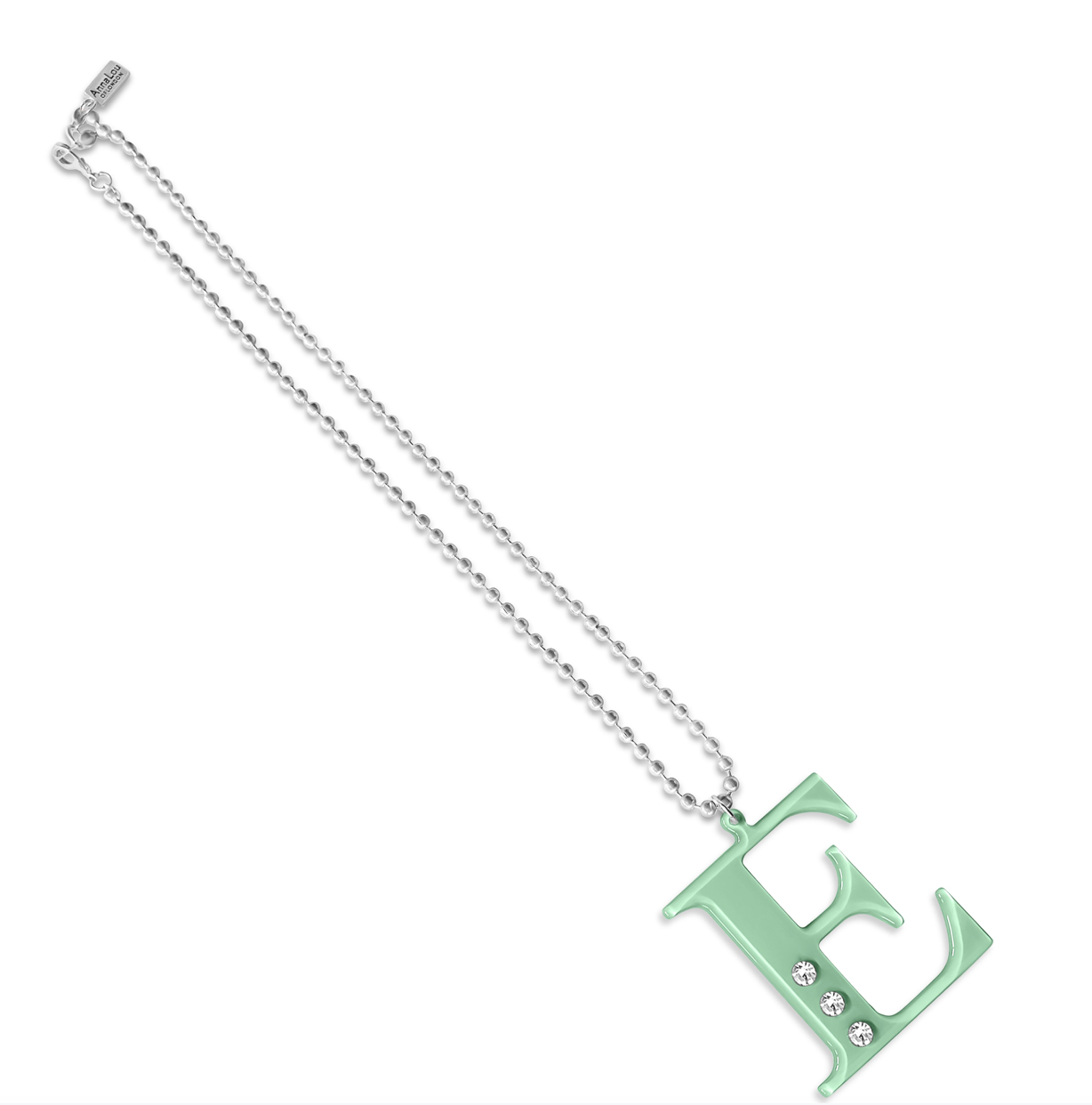 E Lucite Crystal Necklace