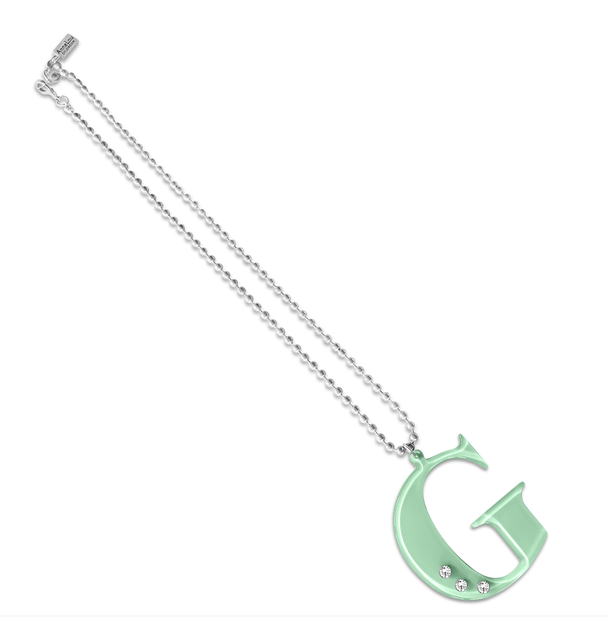 G Lucite Crystal Necklace