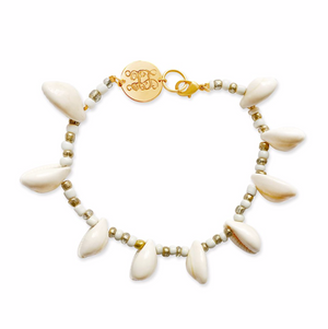 Shell Monogram Anklet