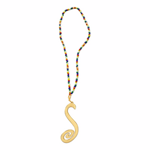 Calypso Beaded Initial Necklace