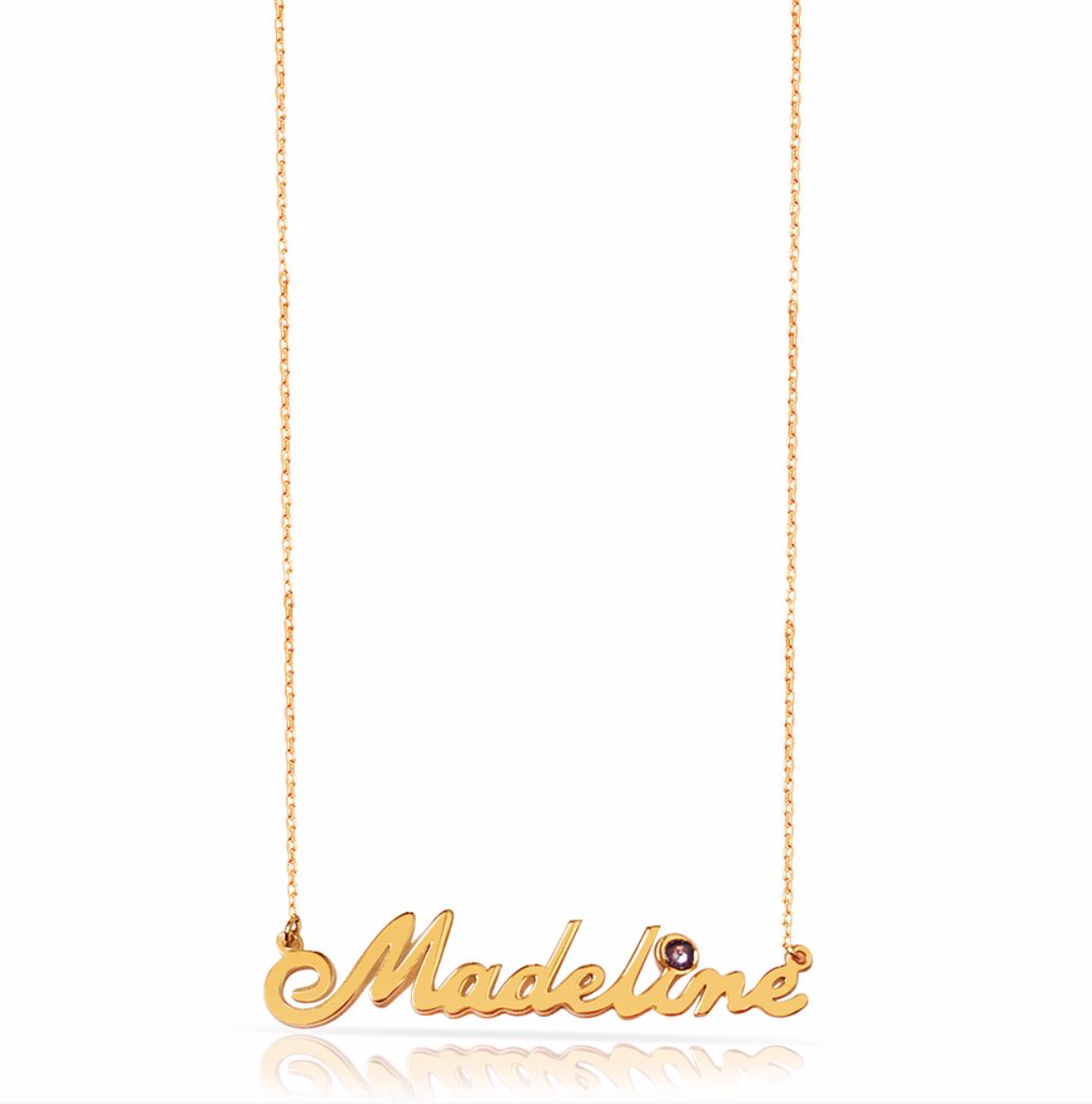 Madeline Birthstone Name Necklace