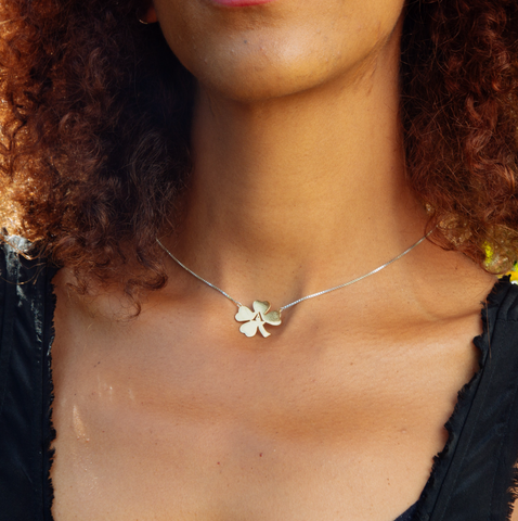 Clover Initial Necklace