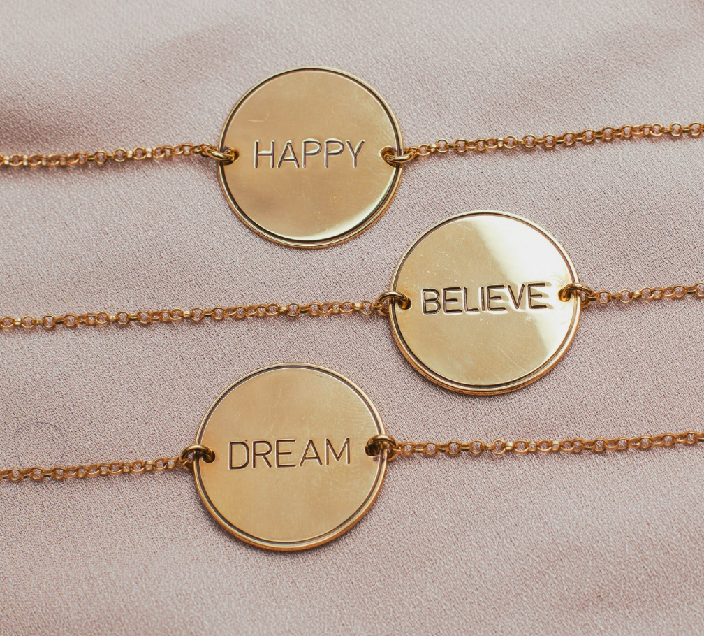 Dream Engraved Tag Bracelet