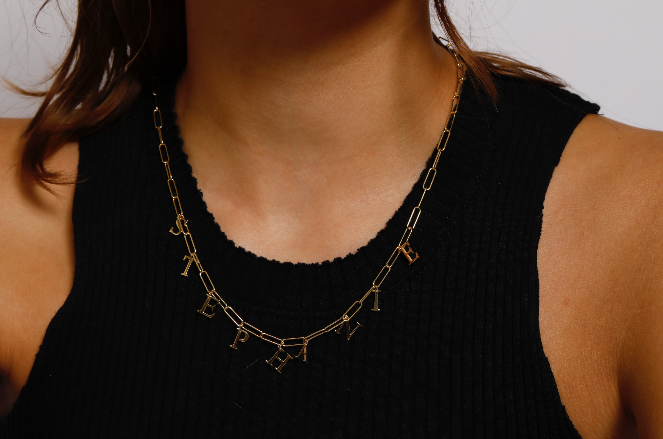 Word Choker Elia Rectangle Necklace