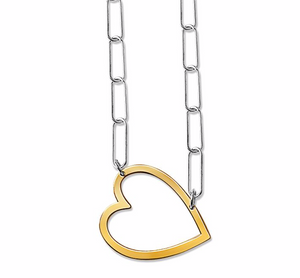 Heart Pendant Elia Chain Necklace