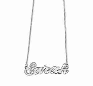 Three Crystals Name Necklaces