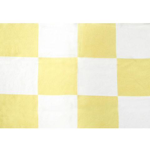 Yellow Checkerboard Silk Scarf