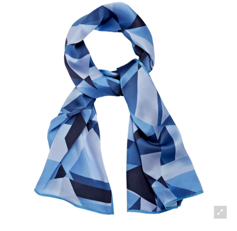Blue Diamond Silk Scarf